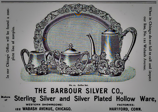 Barbour Silver Co tea service ad