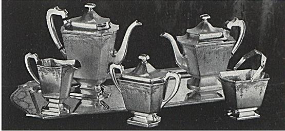 Barbour Silver Co tea set