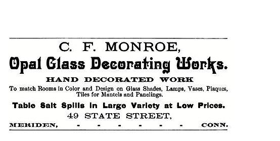C. F. Monroe advertisement