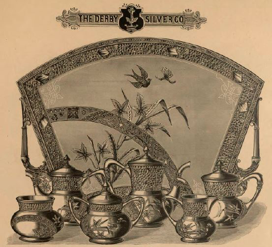 Derby Silver Company tea set 1883