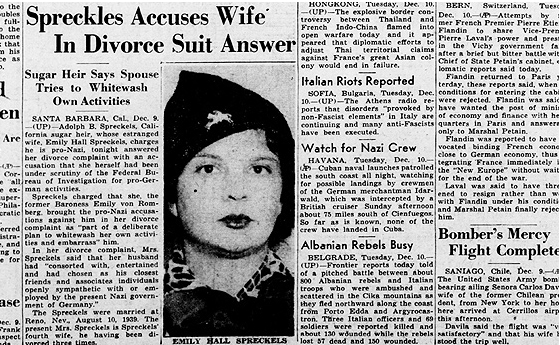Emily Spreckels pro-nazi allegations