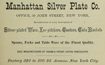 manhattan silver plate co advert