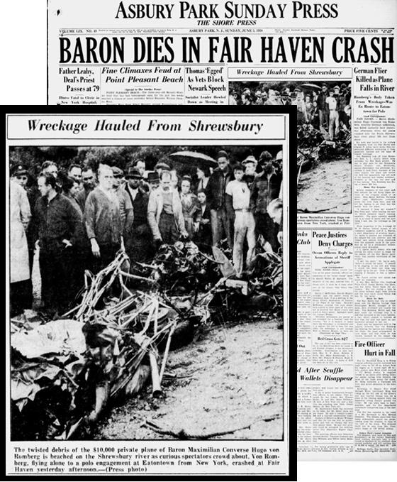 Max von Romberg plane crash