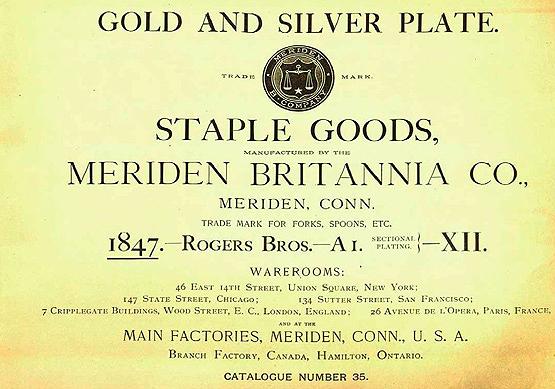 Meriden Britannia Company catalogue