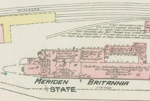Meriden Britannia Co map