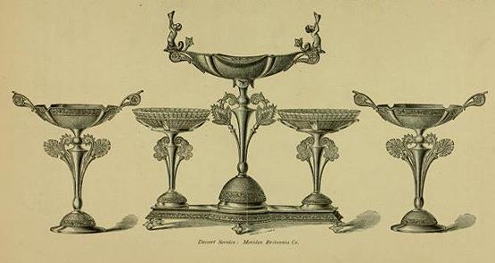 Meriden Britannia Company dessert service