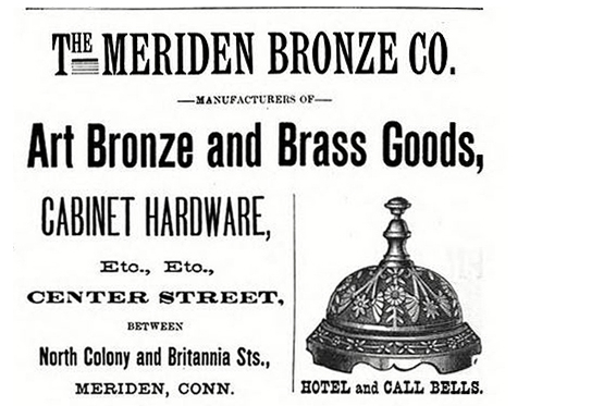 meriden bronze co advertisement