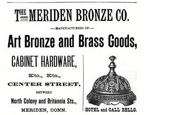 meriden bronze co advertisement