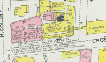 Meriden Cut Glass Company map