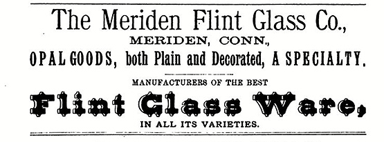 meriden flint glass co advertisement