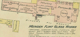 meriden flint glass co map