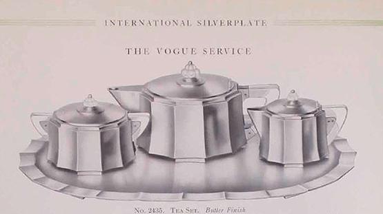 Meriden Silver Plate Co. Vogue pattern tea set