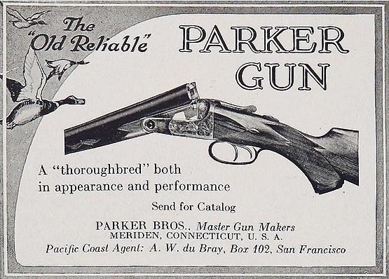Parker Bros guns advertisement