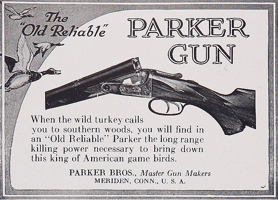 Parker Bros guns advertisement