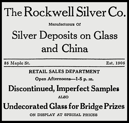 Rockwell Silver Co. advertisement