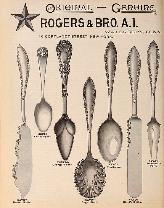 Rogers & Brother flatware ad
