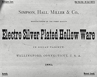 Simpson, Hall, Miller & Co. 1881 catalogue
