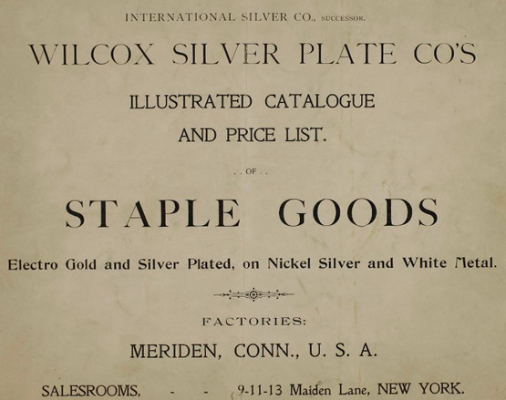 Wilcox Silver Plate Co catalogue